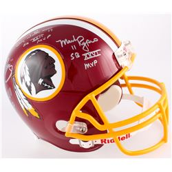 Mark Rypien, Doug Williams  John Riggins Signed Washington Redskins Full-Size Helmet With (3) Inscri