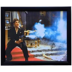 "Al Pacino Signed ""Scarface"" 20x25 Custom Framed Canvas Print (Beckett COA)"