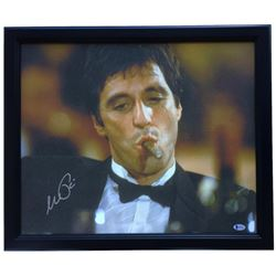 "Al Pacino Signed ""Scarface"" 20x25 Custom Framed Canvas Display (Beckett COA)"