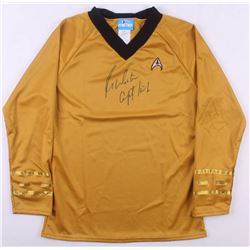 "William Shatner Signed Star Trek ""Captain James T. Kirk"" Prop Replica Uniform Shirt Inscribed ""Capta"