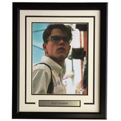 "Matt Damon Signed ""The Talented Mr. Ripley"" 16x20 Custom Framed Photo Display (PSA COA)"