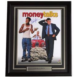 """Charlie Sheen Signed """"Money Talks"""" 22x27 Custom Framed Poster Display (SI COA)"""