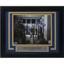 David Hanson, Steve Carlson  Jeff Carlson Signed Hanson Brothers 11x14 Custom Framed Photo Display (