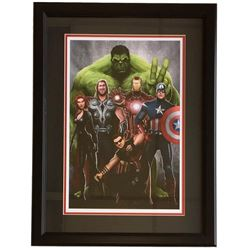 "Marvel ""Avengers"" 12x18 Custom Framed Lithograph Display"