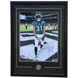 Jalen Mills Signed Philadelphia Eagles 22x29 Custom Framed Photo Display (JSA COA)