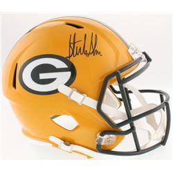 Sterling Sharpe Signed Packers Full-Size Speed Helmet (Beckett COA)