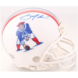 Julian Edelman Signed New England Patriots Throwback Mini Helmet (JSA COA)
