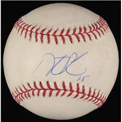 Dustin Pedroia Signed Game-Used OML Baseball (Steiner COA  MLB Hologram)