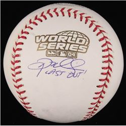 "Doug Mientkiewicz Signed 2004 World Series Championship Baseball Inscribed ""Last Out!"" (JSA COA)"