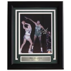 Bill Russell Signed Boston Celtics 11x14 Custom Framed Photo Display (Beckett COA  Hollywood Collect