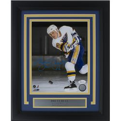 Brett Hull Signed St. Louis Blues 11x14 Custom Framed Photo Display (JSA COA)