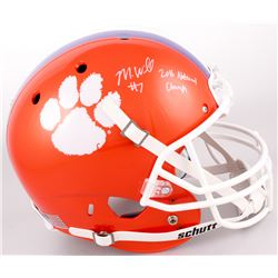 "Mike Williams Signed Clemson Tigers Full-Size Helmet Inscribed ""2016 National Champs"" (JSA COA)"