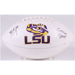 "Brad Wing Signed LSU Tigers Logo Football Inscribed ""Geaux Tigers!"" (JSA COA)"