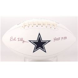 "Bob Lilly Signed Dallas Cowboys Logo Football Inscribed ""HOF 1980"" (JSA COA)"