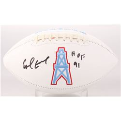 "Earl Campbell Signed Houston Oilers Logo Football Inscribed ""HOF 91"" (JSA COA)"
