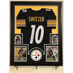 Ryan Switzer Signed Pittsburgh Steelers 34x42 Custom Framed Jersey (JSA COA)