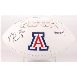 "Ka'Deem Carey Signed Arizona Wildcats Logo Football Inscribed ""Bear Down!"" (JSA COA)"