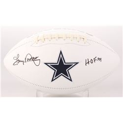 "Tony Dorsett Signed Dallas Cowboys Logo Football Inscribed ""HOF 94"" (Beckett COA)"