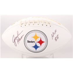 "Jack Ham Signed Pittsburgh Steelers Logo Football Inscribed ""HOF 88"" (JSA COA)"