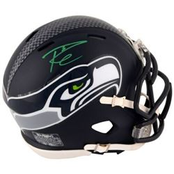 Russell Wilson Signed Seattle Seahawks Mini Speed Helmet (Fanatics Hologram)