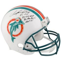 "Dan Marino Signed LE Miami Dolphins Throwback Full-Size Authentic On-Field Helmet Inscribed ""83 ROY"""