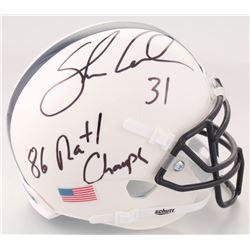 "Shane Conlan Signed Penn State Nittany Lions Mini Helmet Inscribed ""86 Natl Champs"" (JSA COA)"
