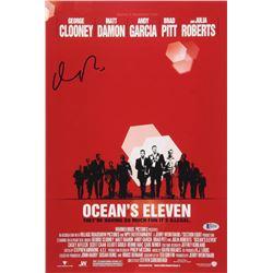 Matt Damon Signed Ocean's Eleven 12x18 Movie Poster Photo (Beckett COA)