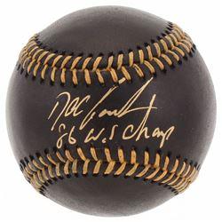 "Dwight ""Doc"" Gooden Signed OML Black Leather Baseball Inscribed ""86 W.S Champ"" (JSA COA)"