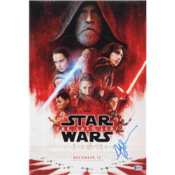 Andy Serkis Signed Star Wars: The Last Jedi 12x18 Movie Poster Photo (Beckett COA)