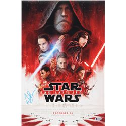 Andy Serkis Signed Star Wars: The Last Jedi 12x18 Movie Poster Photo (Beckett Hologram)