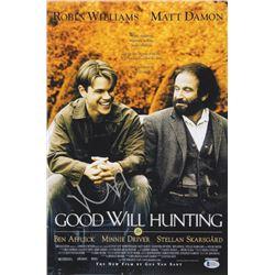 Matt Damon Signed Good Will Hunting 12x18 Movie Poster Photo (Beckett COA)