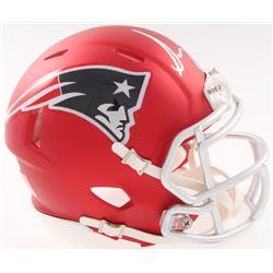 Sonny Michel Signed New England Patriots Blaze Speed Mini Helmet (JSA COA)