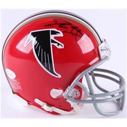 Deion Sanders Signed Atlanta Falcons Mini Helmet (JSA COA)