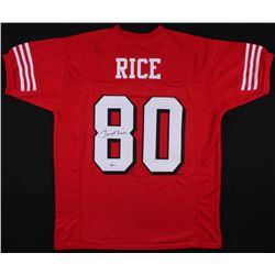 Jerry Rice Signed San Francisco 49ers Jersey (Beckett COA)