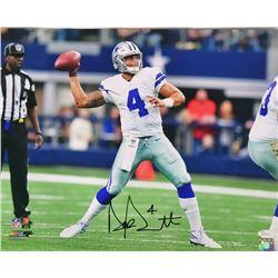 Dak Prescott Signed Dallas Cowboys 16x20 Photo (JSA COA)