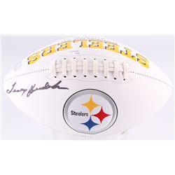 Terry Bradshaw Signed Pittsburgh Steelers Logo Football (JSA COA  Terry Bradshaw Hologram)