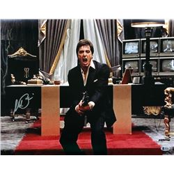 """Al Pacino Signed Scarface """"Say Hello To My Little Friend"""" 16x20 Photo (Beckett COA)"""