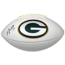 Davante Adams Signed Green Bay Packers Logo Football (JSA COA)