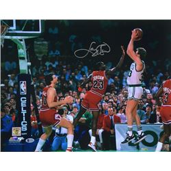 Larry Bird Signed Boston Celtics 16x20 Photo (Beckett COA)