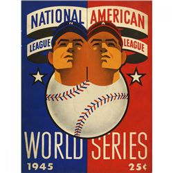 1945 World Series Detroit Tigers vs Chicago Cubs Baseball Program