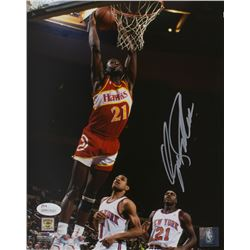Dominique Wilkins Signed Atlanta Hawks 8x10 Photo (JSA COA)