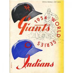1954 World Series New York Giants vs Cleveland Indians Baseball Program