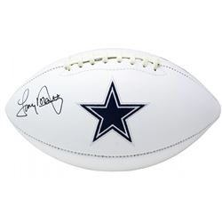 Tony Dorsett Signed Dallas Cowboys Logo Football (JSA COA)