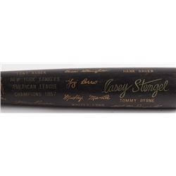 Louisville Slugger 1957 New York Yankees American League Champions Engraved Baseball Bat