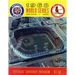 1968 World Series St. Louis Cardinals vs Detroit Tigers Baseball Program