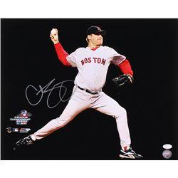 Curt Schilling Signed Boston Red Sox 16x20 Photo (JSA COA)