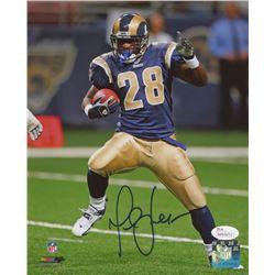 Marshall Faulk Signed St. Louis Rams 8x10 Photo (JSA COA)