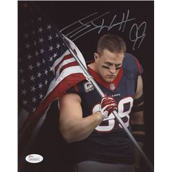 J. J. Watt Signed Houston Texans 8x10 Photo (JSA COA)