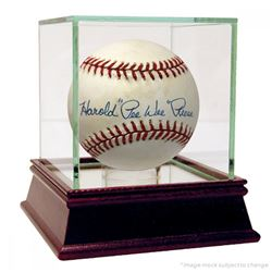 "Harold ""Pee Wee"" Reese Signed ONL Baseball with High Quality Display Case (JSA Hologram)"
