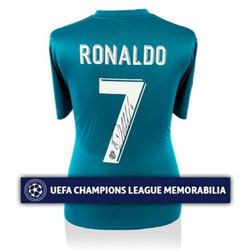 Cristiano Ronaldo Signed 2017-18 Real Madrid Authentic Third Soccer Jersey Shirt (Icons COA)